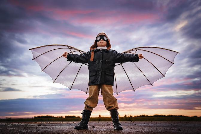 kleiner Junge - Kind lässt seine Wünsche wahr werden - Die Macht der Visualisierung