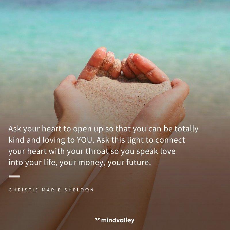 Christie Marie Sheldon quote heart