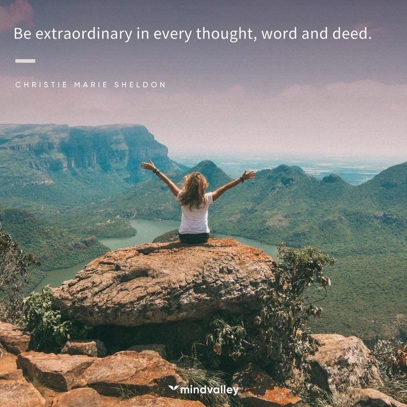 Christie Marie Sheldon extraordinary quote