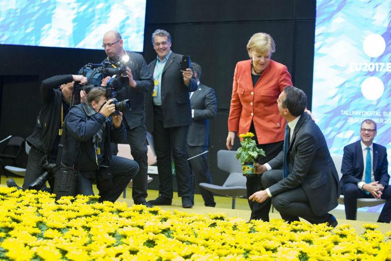 Angela Merkel in Kultuurikatel