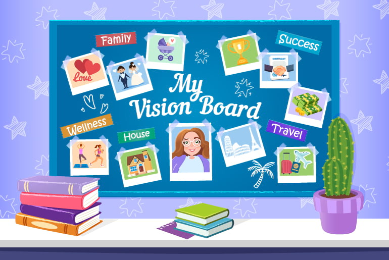 My Vision Board illustration