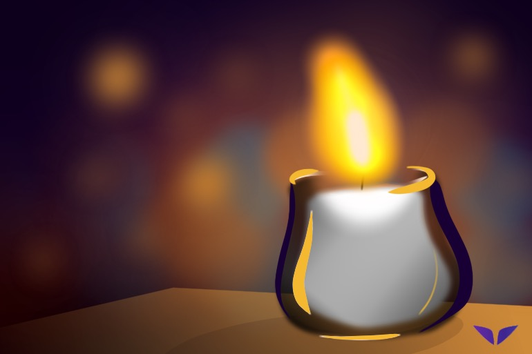 Candle meditation is a present-awareness exercise