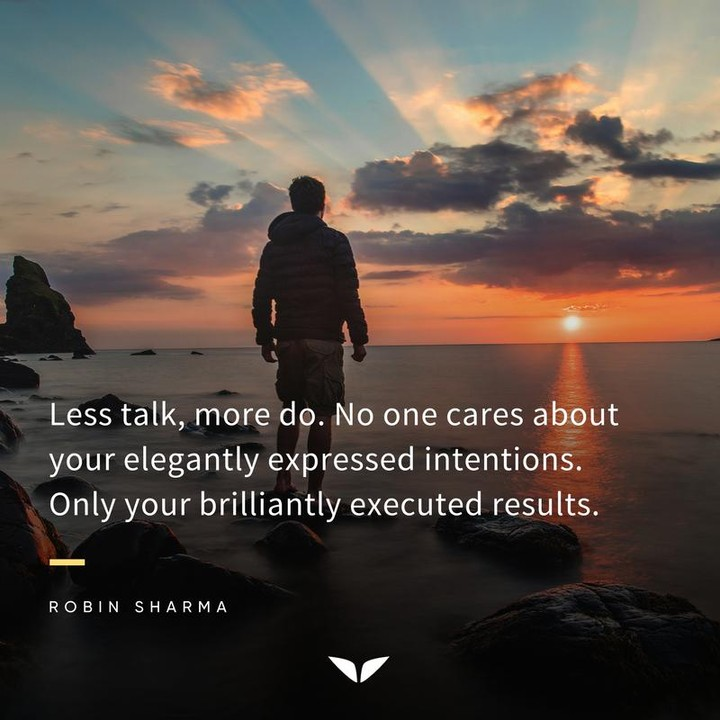 Less talk, more do. No one cares about your elegantly expressed intentions.  Only your brilliantly executed results.