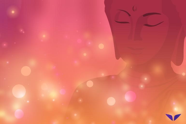 shaman meditation with candles