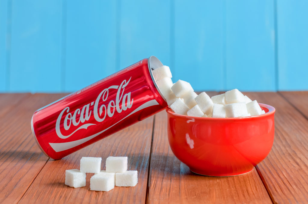 coca cola is packed with sugar