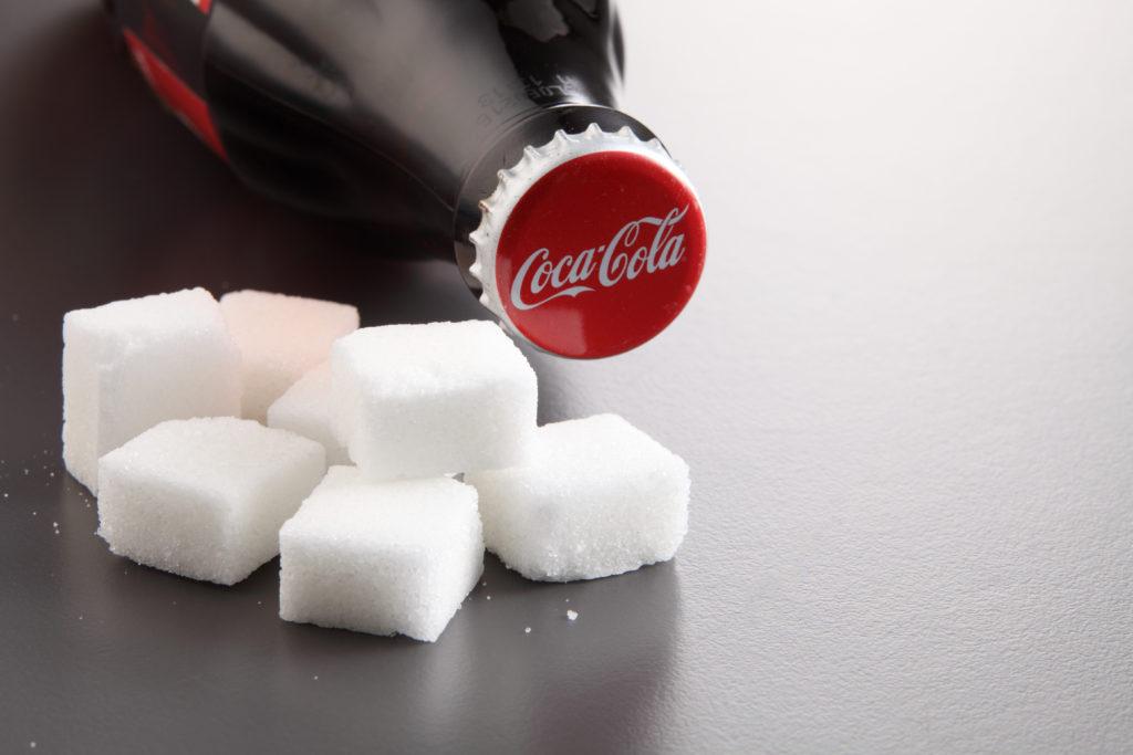 sugar filled bottle coca cola