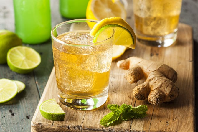 Ginger and lime juice
