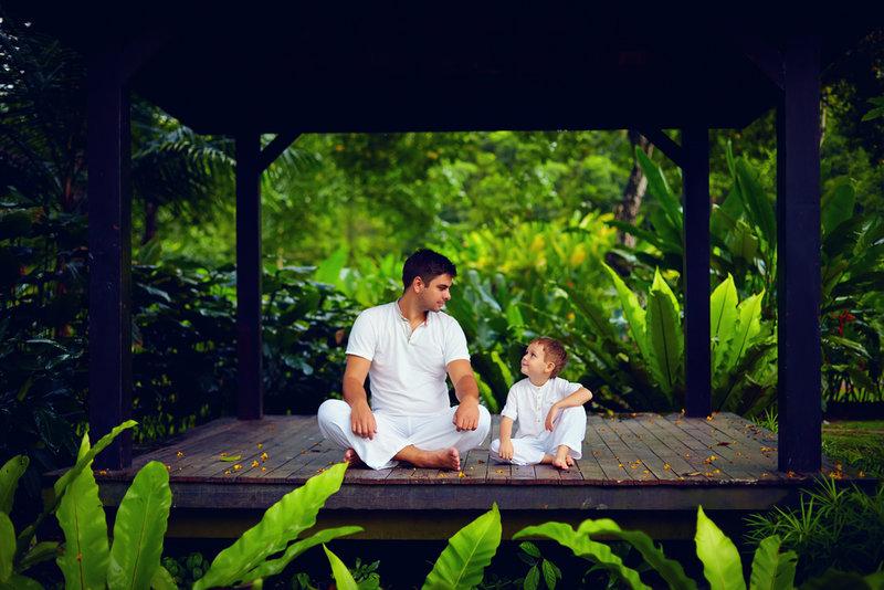 Teaching your children yoga