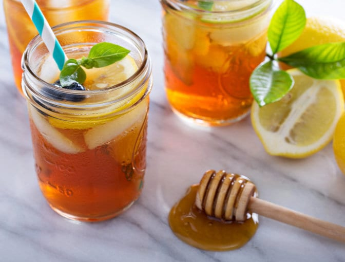 Immunity-boosting green tea smoothie
