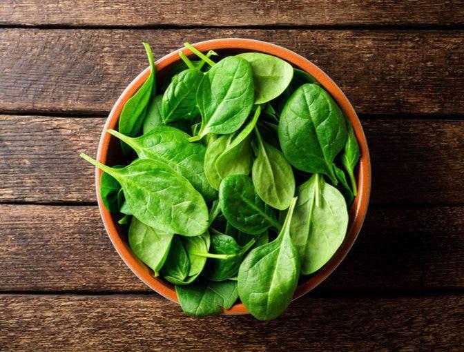 Protein rich vegetables: Spinach