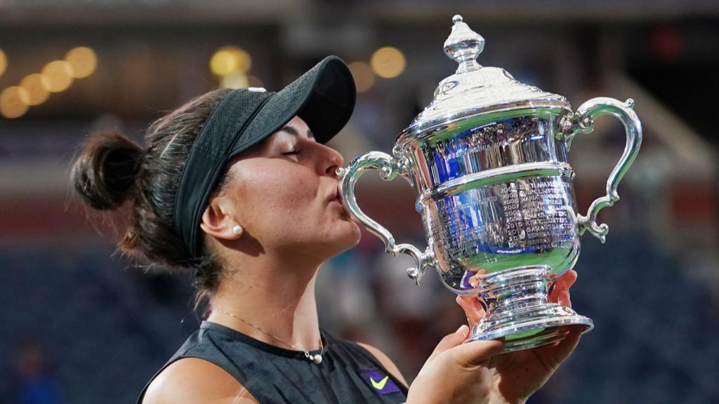 Bianca Andreescu after winning women's final match at US Open Championships at Billie Jean King National Tennis Center